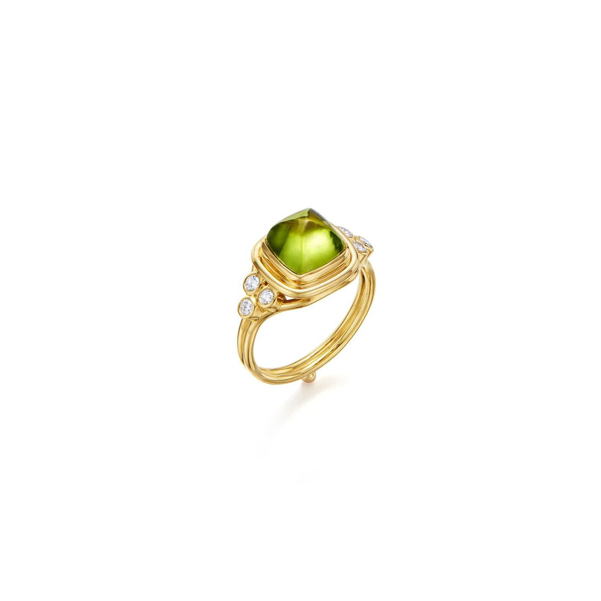 Temple St. Clair 18K Yellow Gold .20cts  Diamonds Gold Ring with Stones R14132-PDSLC8