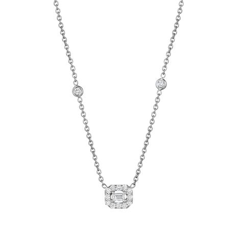 Penny Preville 18K White Gold .53cts  Diamond Gold Necklace with Stones N5134W