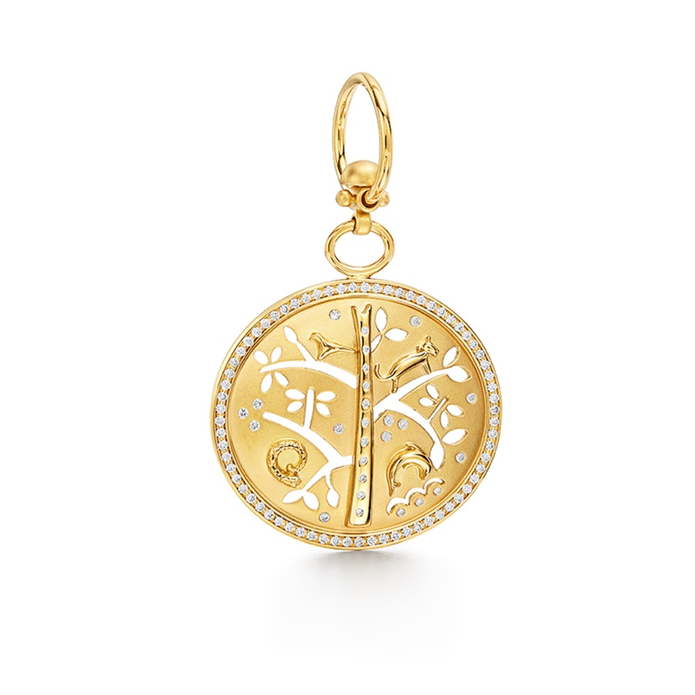 Temple St. Clair 18K Yellow Gold 1.782cts  Diamonds Gold Pendants / Charms P31842-PVTREE