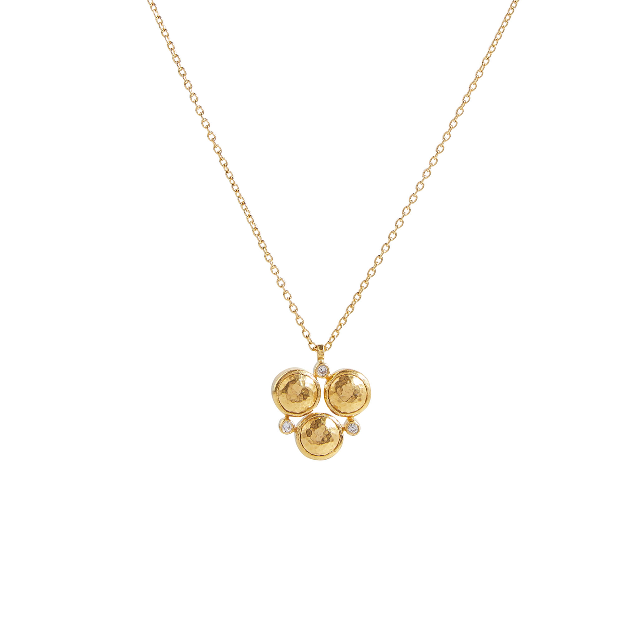 Gurhan 18-22-24K Yellow Gold .054cts White Diamond Gold Necklace with Stones GUN-YG-DI18-4913