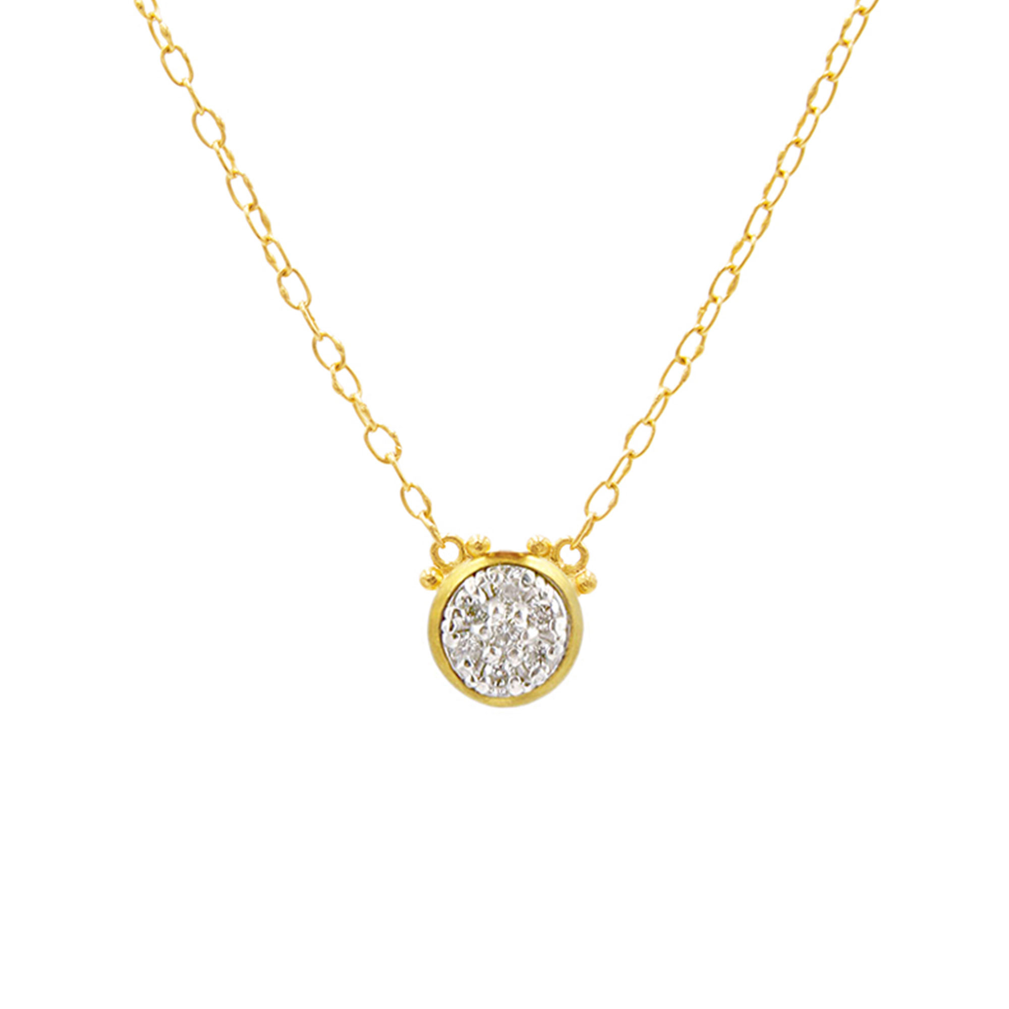 Gurhan 18-22-24K Yellow Gold .31cts White Diamond Gold Necklace with Stones CHN45-1PVRD-DI-S