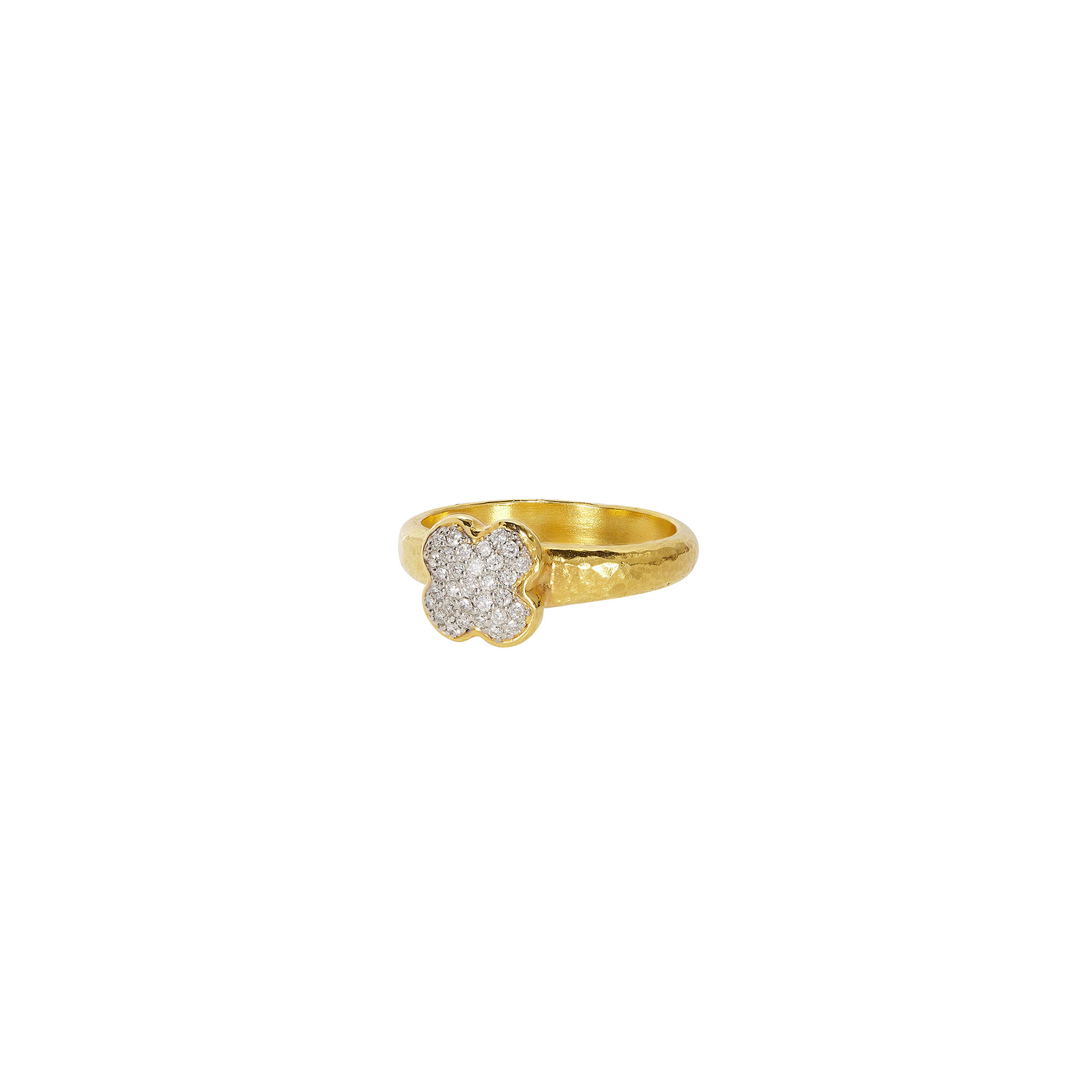 Gurhan 18-22K Yellow Gold .218cts White Diamond Gold Ring with Stones R-XPV-YB-S-DI