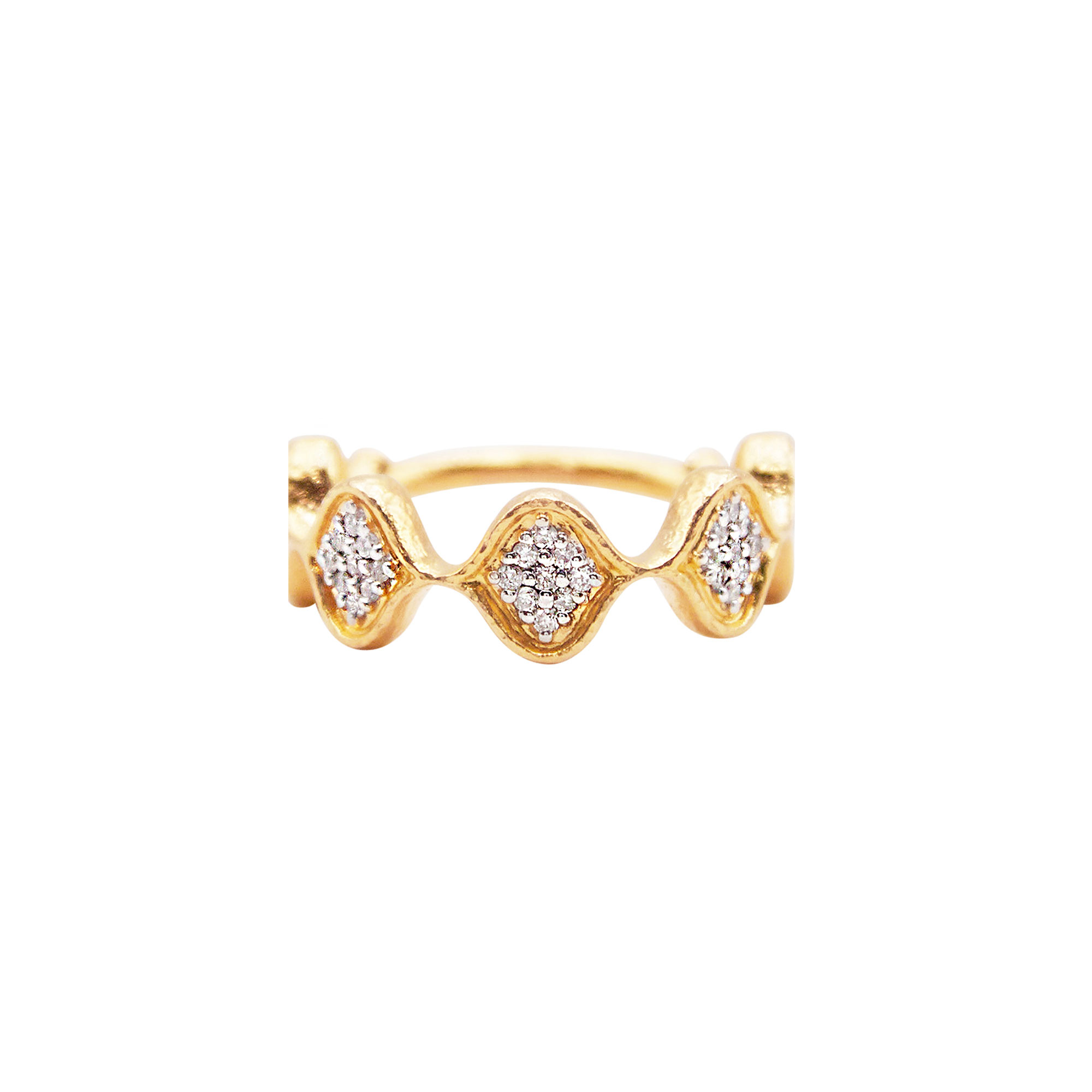 Gurhan 18-22K Yellow Gold .36cts White Diamond Gold Ring with Stones GUR-YG-DI-8666-65