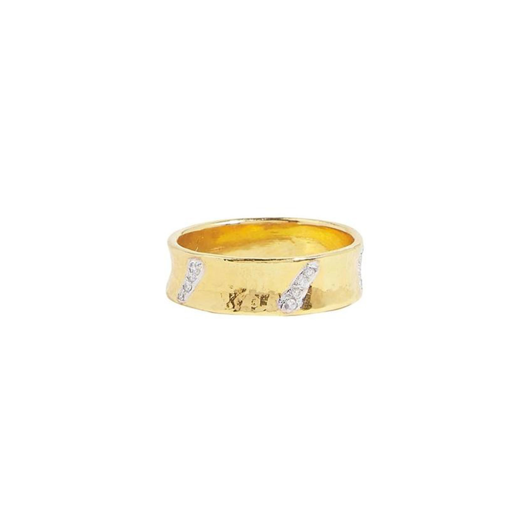 Gurhan 22K Yellow Gold .08cts White Diamond Gold Ring with Stones GUR-YG-DI65-2573