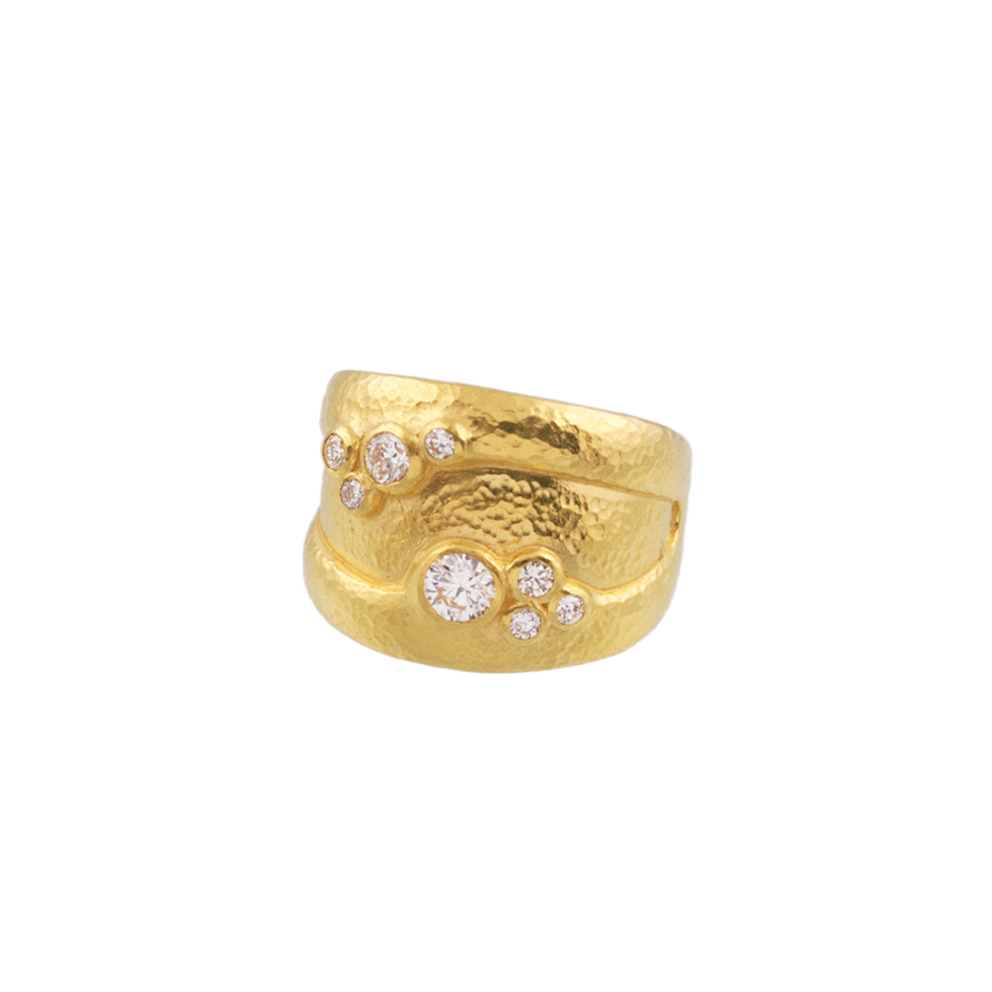 Gurhan 22K Yellow Gold .58cts White Diamond Gold Ring with Stones R-SCTDI-DB-SO-WV