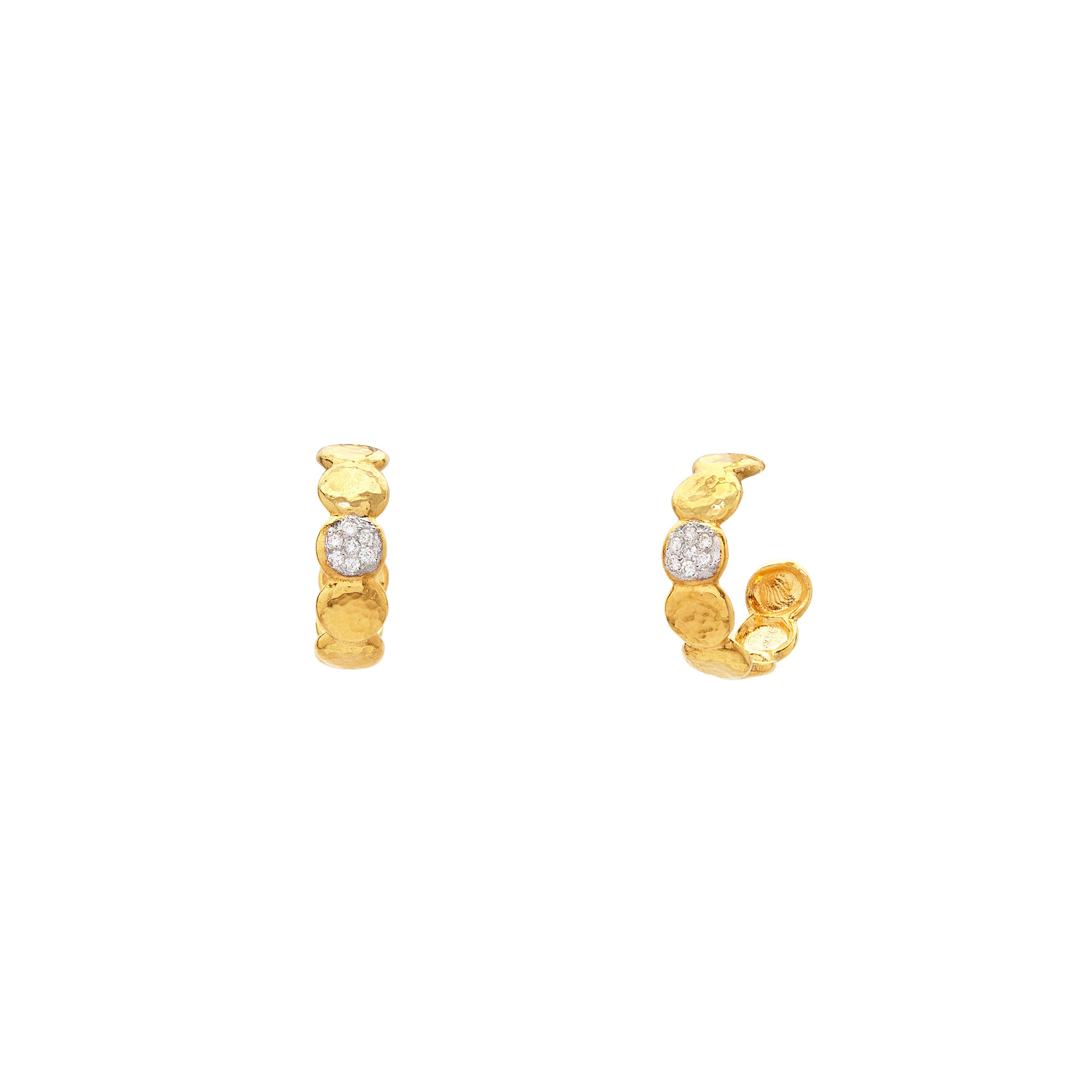 Gurhan 22K Yellow Gold 0.098cts  Diamond Gold Earrings with Stones E-PBL-HP-S-1DIP