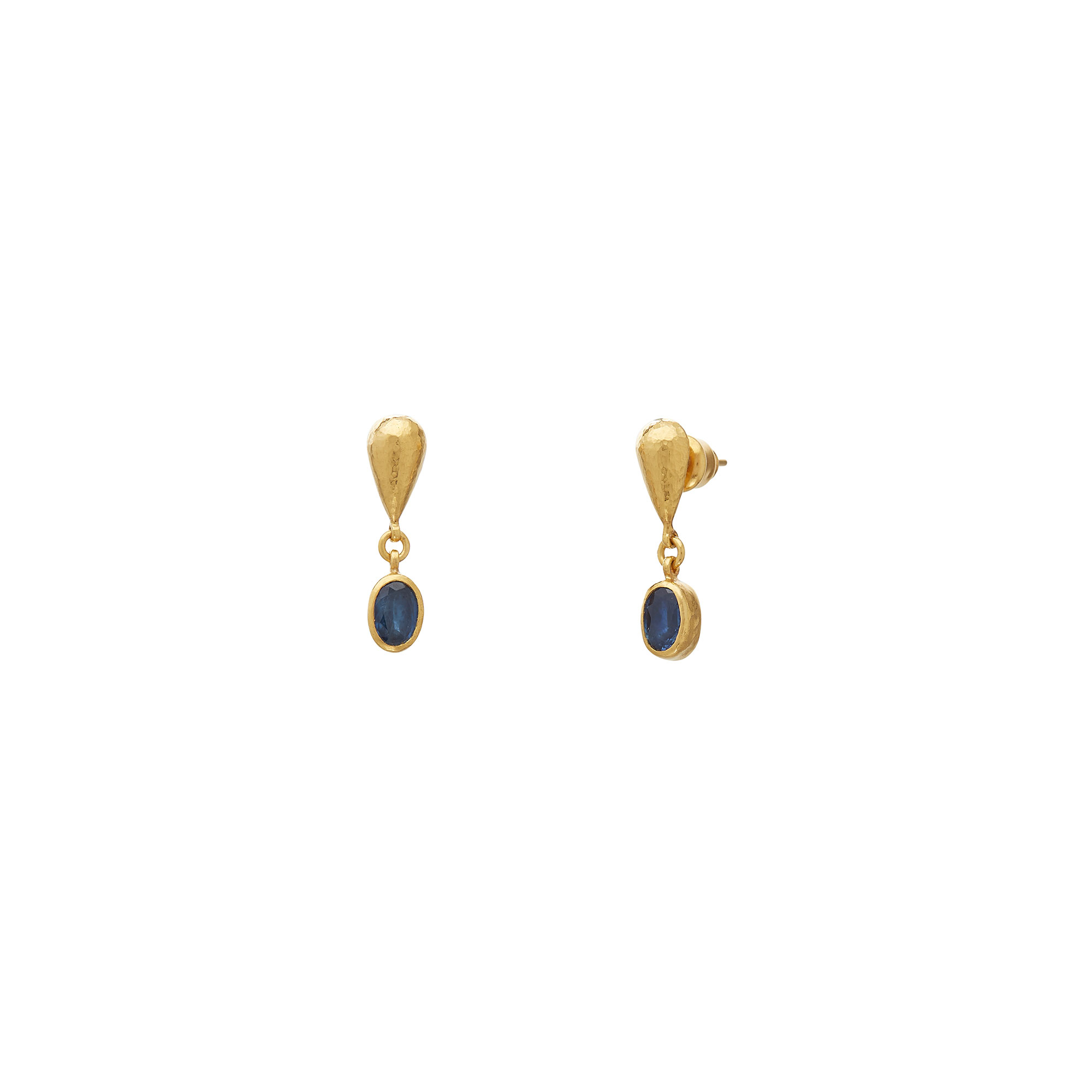 Gurhan 24K Yellow Gold 1.76cts  Sapphire Gold Earrings with Stones E-U26328-SA