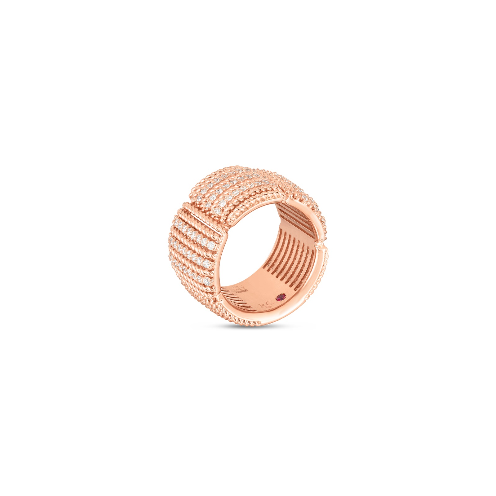 Roberto Coin 18K Rose Gold .67cts  Diamonds Gold Ring with Stones 7772895AX65X