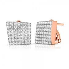 Roberto Coin 18K Rose Gold 1.35cts  Diamonds Gold Earrings with Stones 8882431AHERX