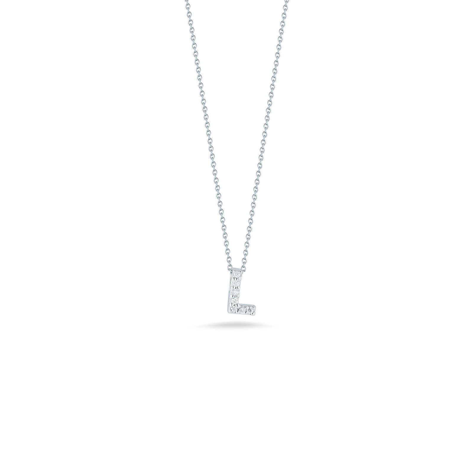 Roberto Coin 18K White Gold .03cts  Diamonds Gold Necklace with Stones 001634AWCHXL