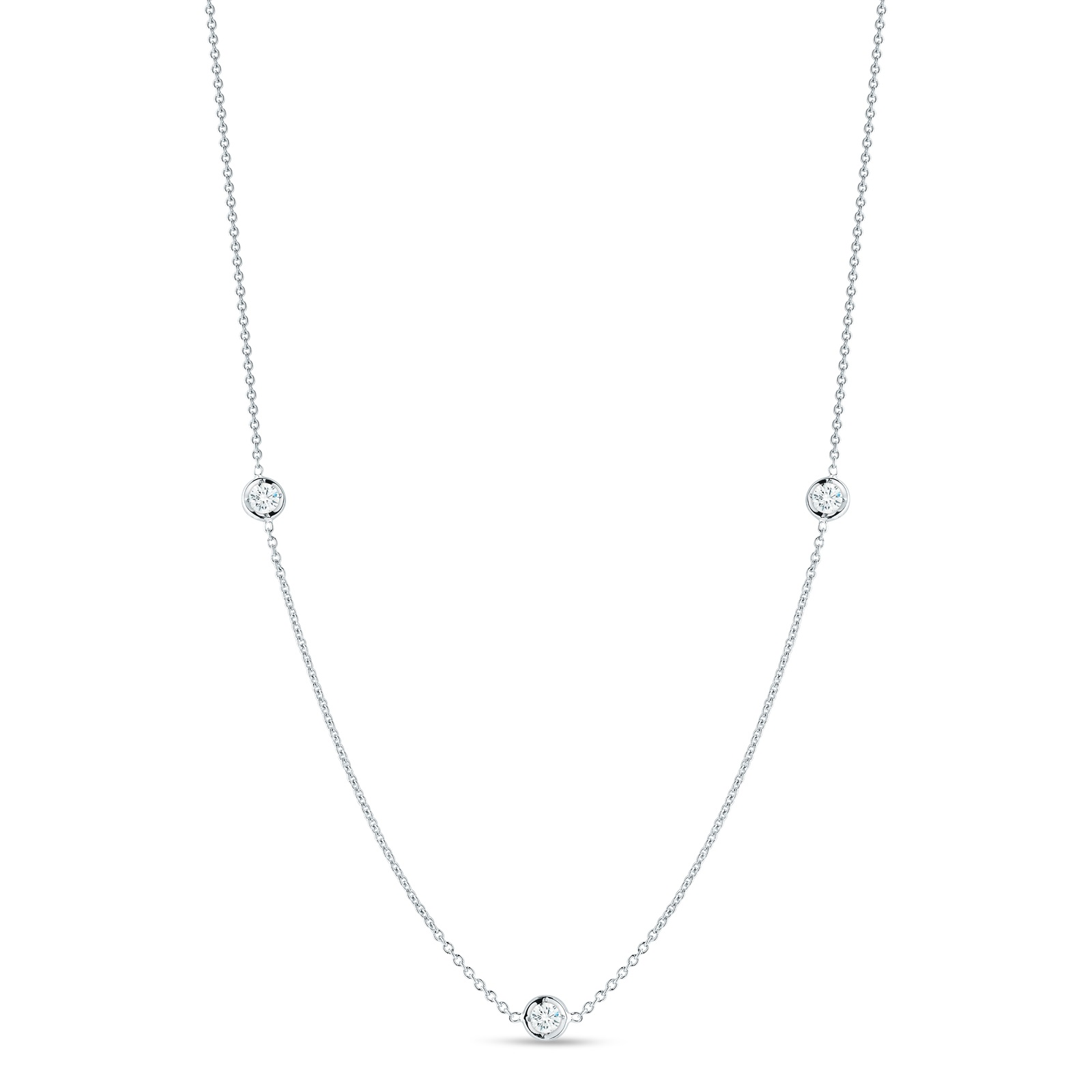 Roberto Coin 18K White Gold .15cts  Diamonds Gold Necklace with Stones 001317AWCHD0