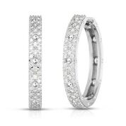 Roberto Coin 18K White Gold .90cts  Diamond Gold Earrings with Stones 7772100AWERX