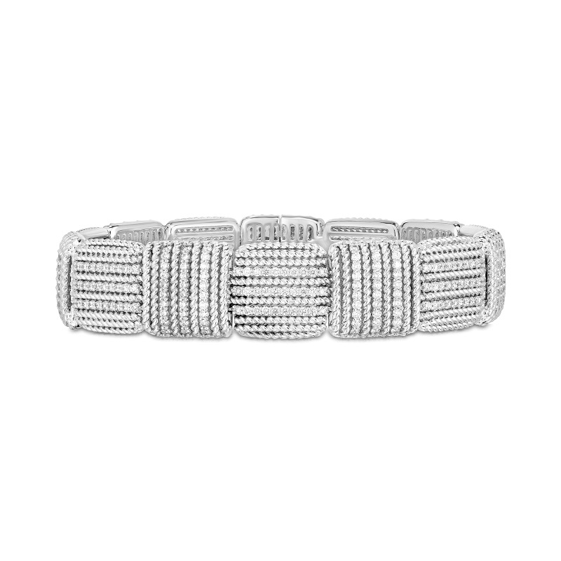 Roberto Coin 18K White Gold 3.19cts  Diamonds Gold Bangle with Stones 7772895AWLBX