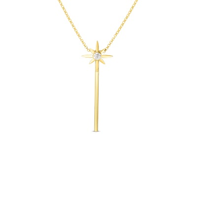 Roberto Coin 18K Yellow Gold .08cts  Diamonds Gold Necklace with Stones 8882694AYCHX
