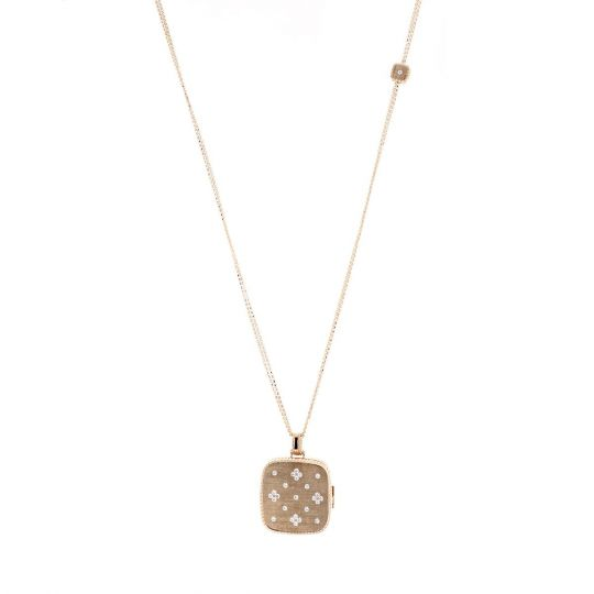 Roberto Coin 18K Yellow Gold .35cts  Diamond Gold Necklace with Stones 7771798AY34X