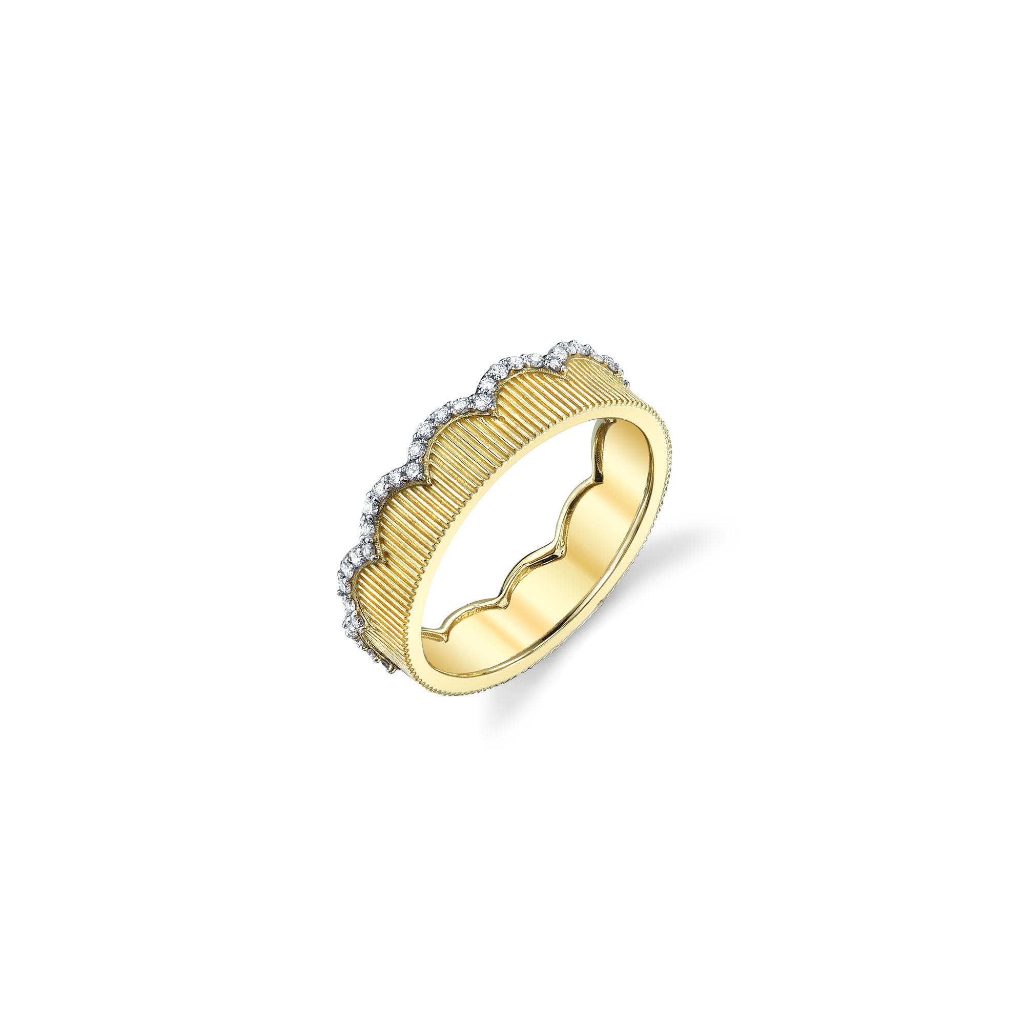 Sloane Street 18K Yellow Gold .60cts  Diamond Gold Ring with Stones R003C-WDCB-Y