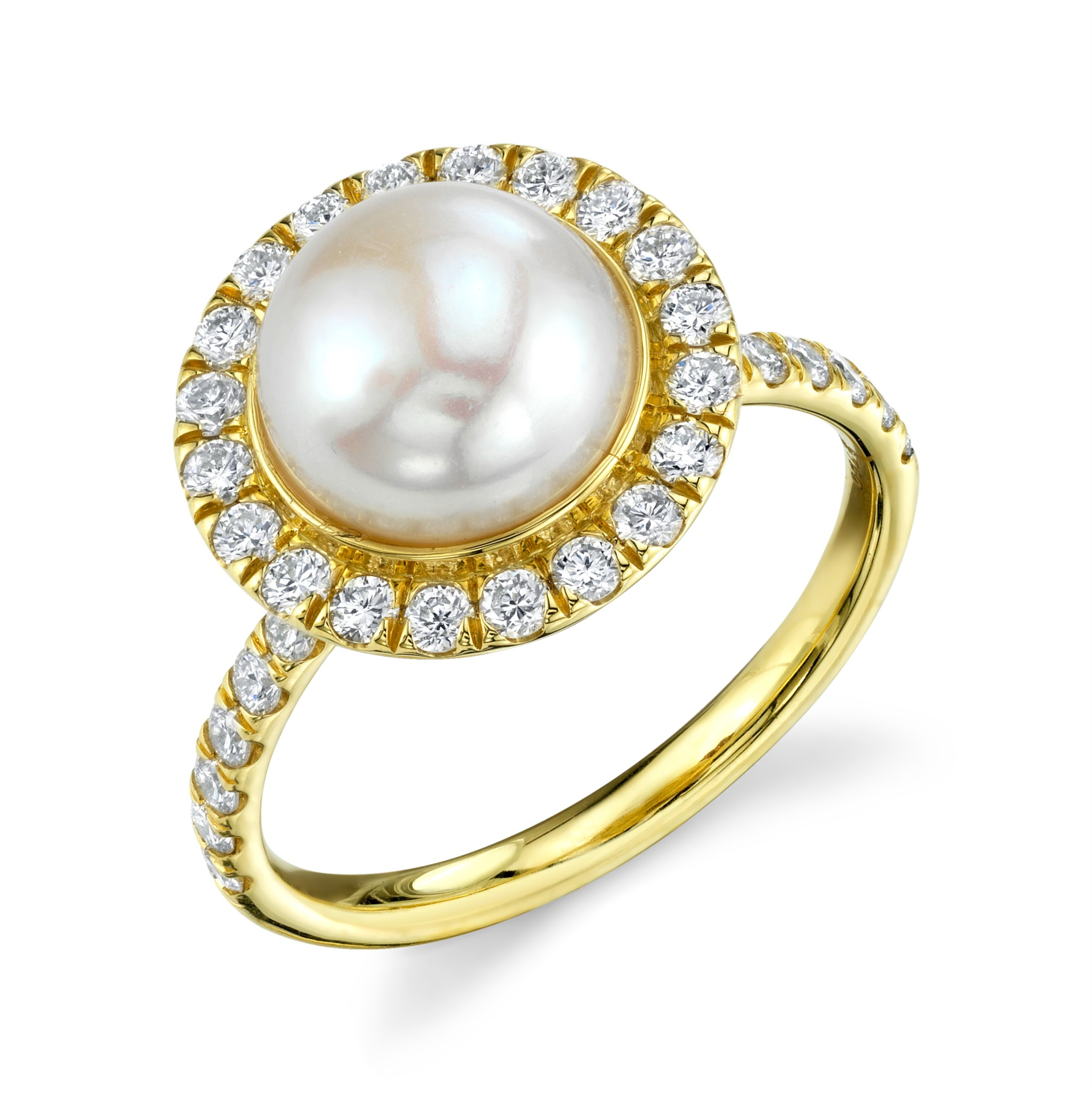 Sloane Street 18K Yellow Gold .65cts  Diamonds Gold Ring with Stones R010C-WP-WD-Y