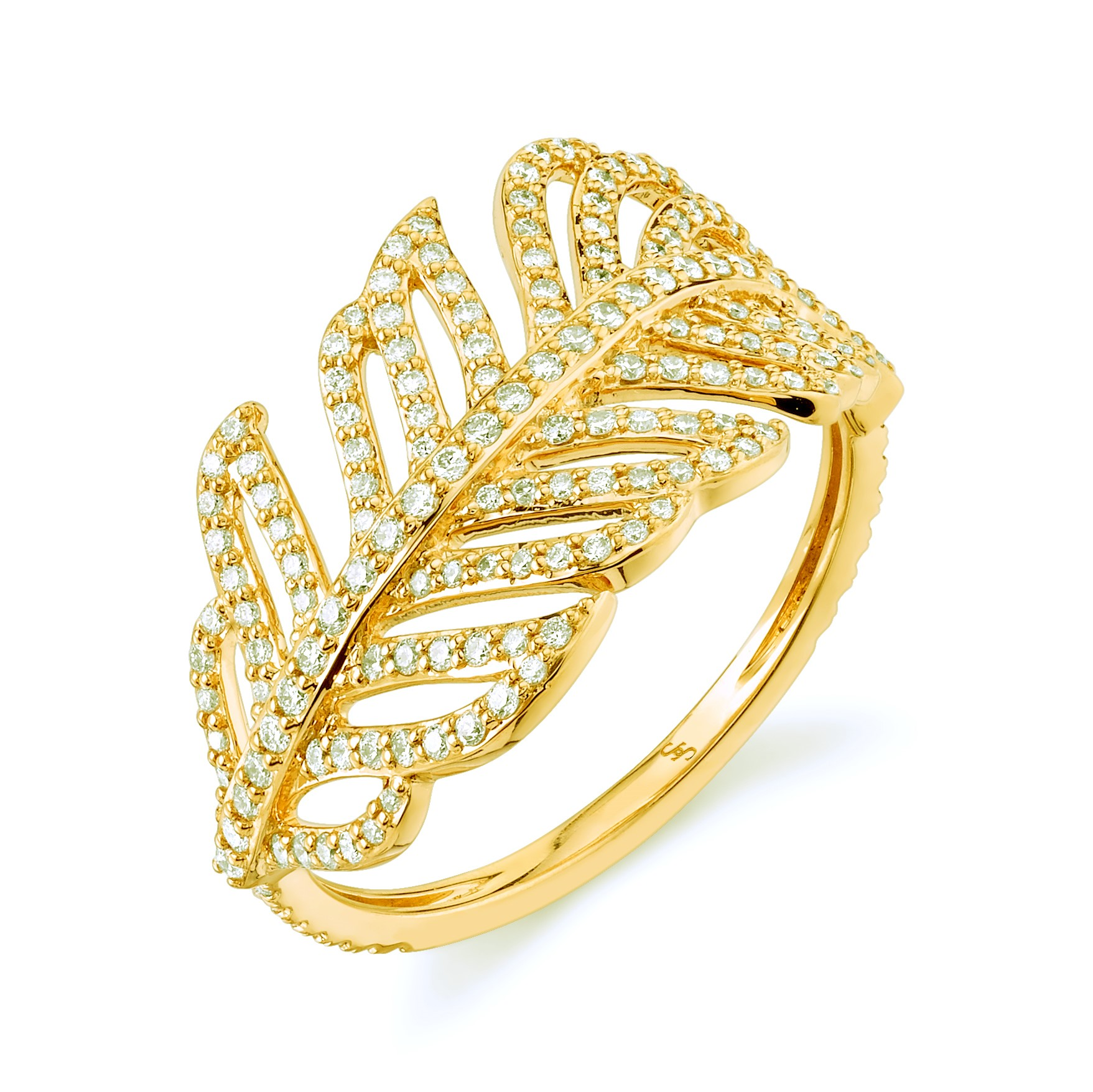 Sloane Street 18K Yellow Gold .66cts  Diamonds Gold Ring with Stones R176T-WD-Y