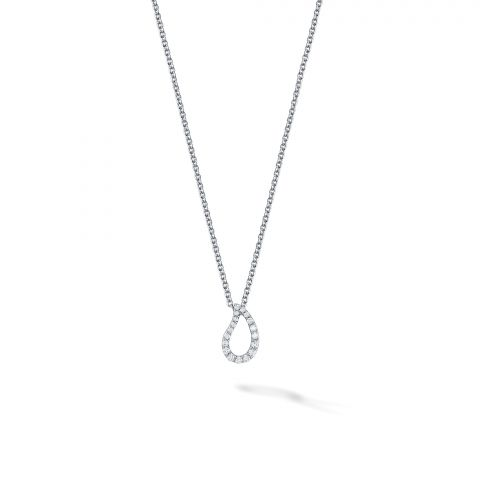 Birks 18K White Gold .09cts  Diamonds Gold Necklace with Stones 450013528969