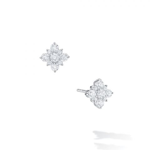 Birks 18K White Gold .17cts  Diamonds Gold Earrings with Stones 450005973845