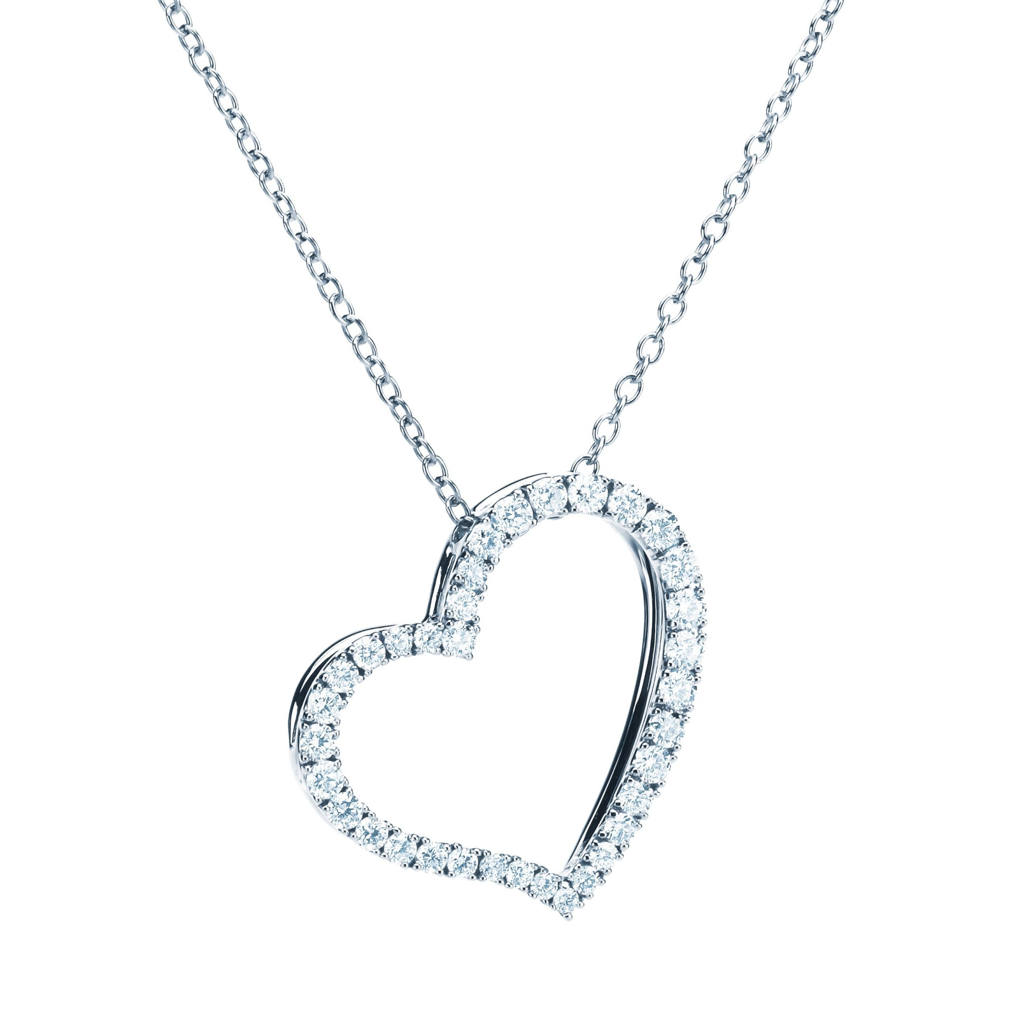 Birks 18K White Gold .31cts  Diamond Gold Necklace with Stones 450005880785