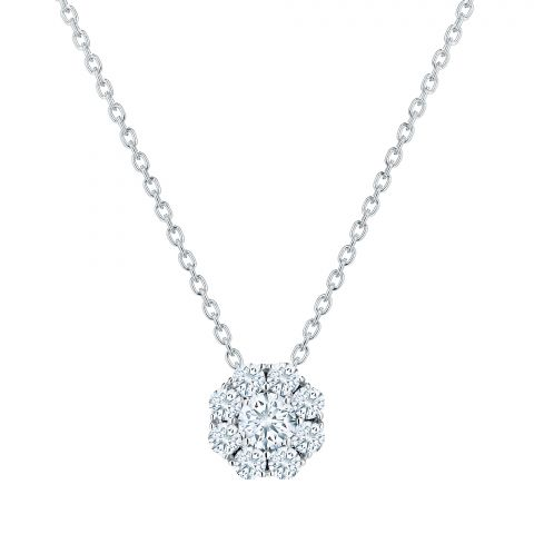 Birks 18K White Gold .46cts  Diamonds Gold Necklace with Stones 450005967097