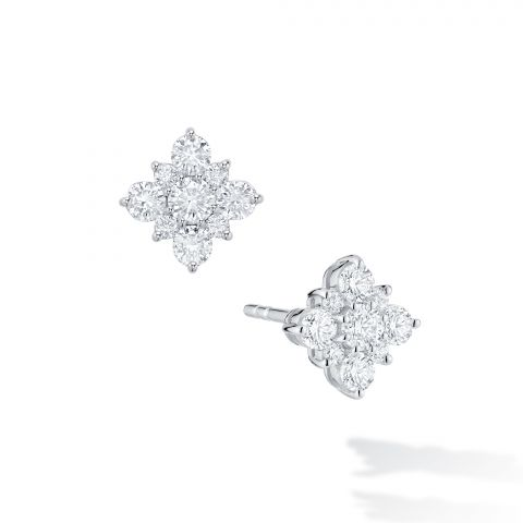 Birks 18K White Gold .71cts  Diamonds Gold Earrings with Stones 450005974002