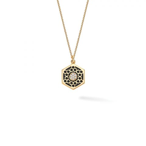 Birks 18K Yellow Gold .04cts  Diamonds Gold Necklace with Stones 450013522844
