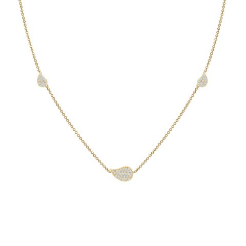 Birks 18K Yellow Gold .29cts  Diamonds Gold Necklace with Stones 450012480947