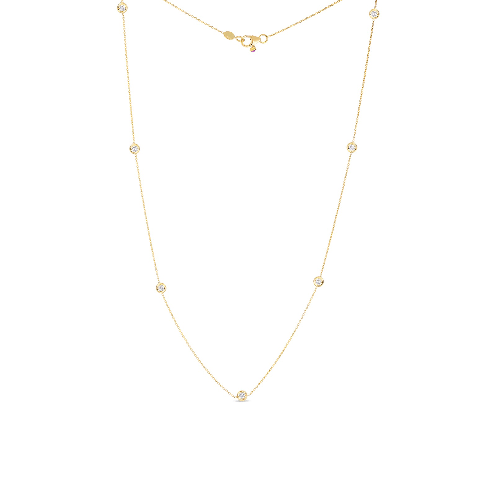 Roberto Coin 18K Yellow Gold .35cts  Diamonds Gold Necklace with Stones 001347AYCHD0