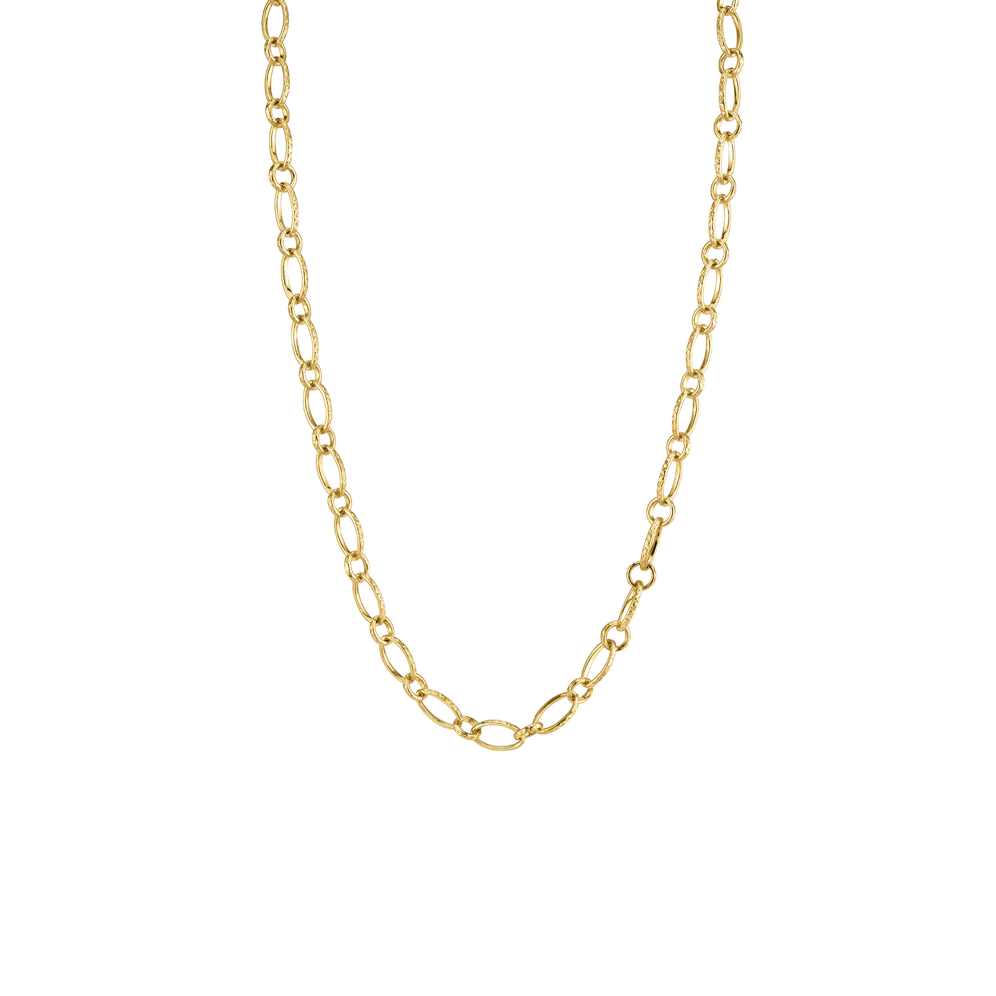 Sloan Street 18K Yellow Gold    Gold Necklace with Stones CH029-Y