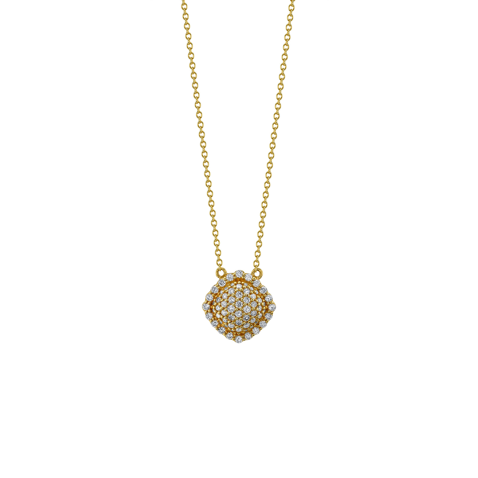 Sloane Street 18K Rose Gold .47cts  Diamond Gold Necklace with Stones P006-WD-R