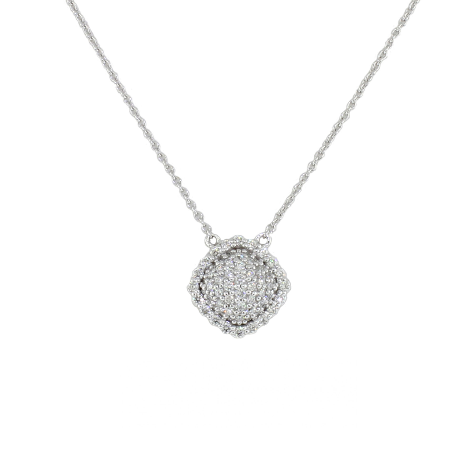 Sloane Street 18K White Gold .47cts  Diamonds Gold Necklace with Stones P006-WD-W