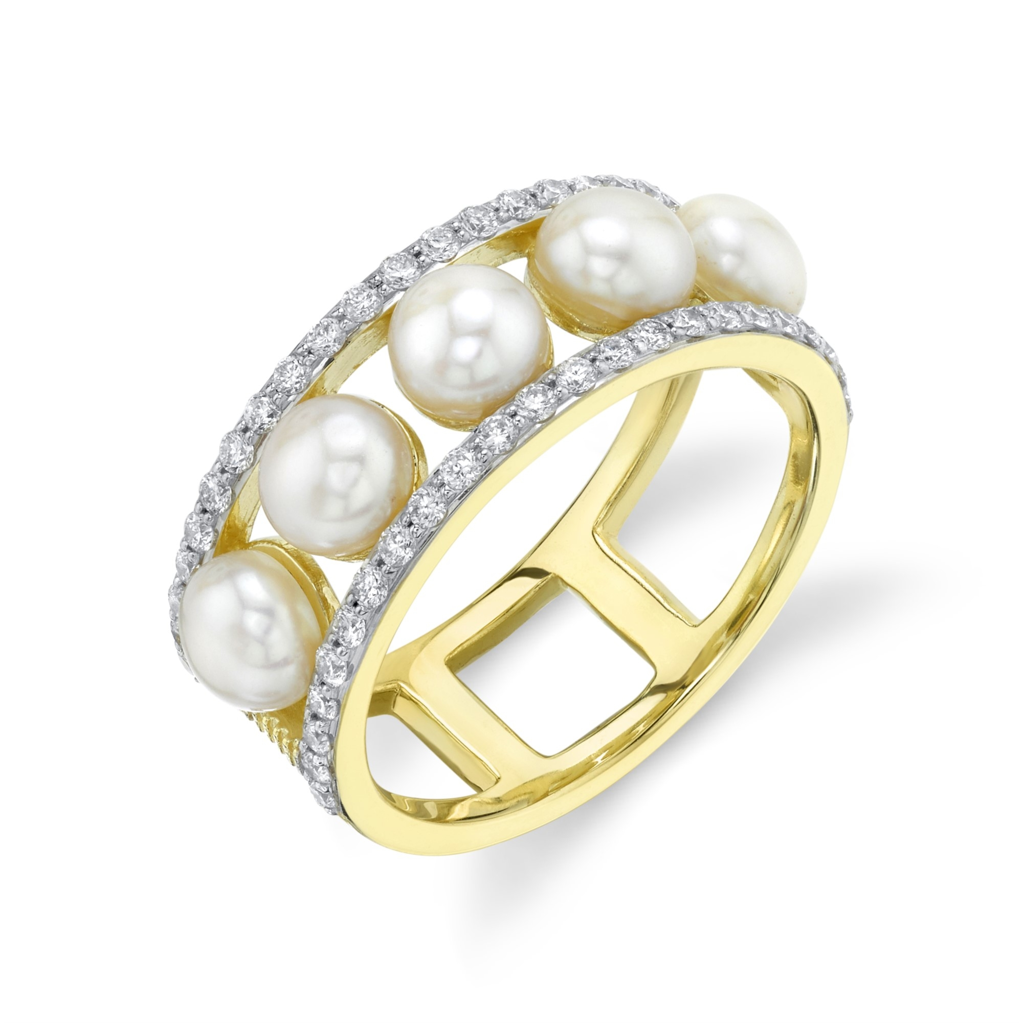 Sloane Street 18K Yellow Gold .46cts  Diamonds Gold Ring with Stones R038F-WP-WDCB-Y