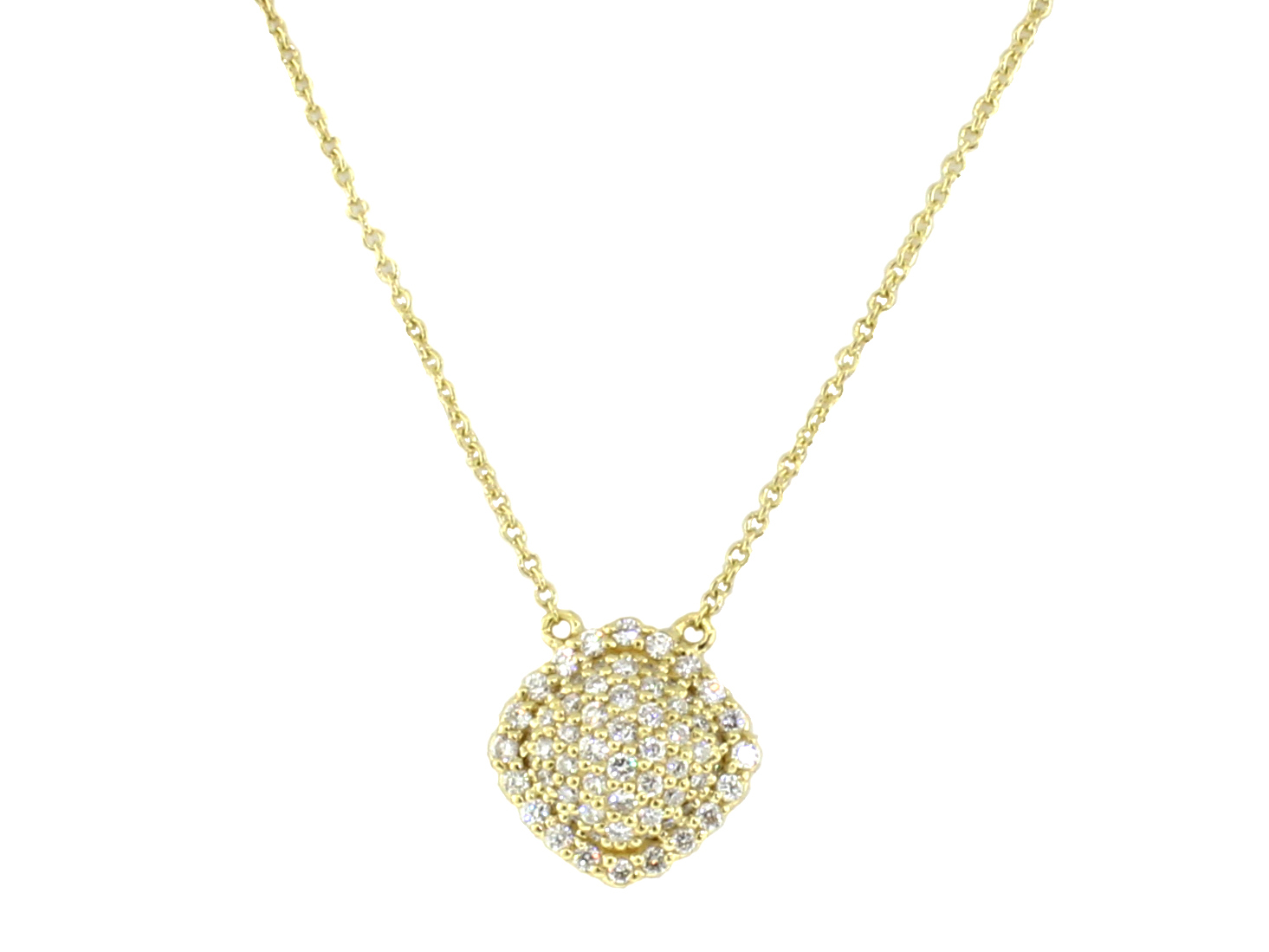 Sloane Street 18K Yellow Gold .47cts  Diamonds Gold Necklace with Stones P006-WD-Y