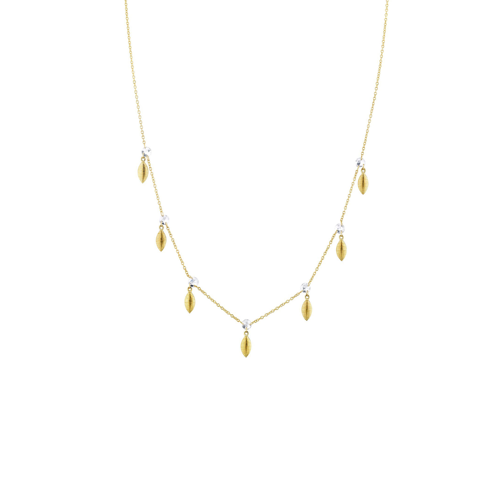 Sloane Street 18K Yellow Gold .70cts  Diamonds Gold Necklace with Stones CH014E-WD-Y