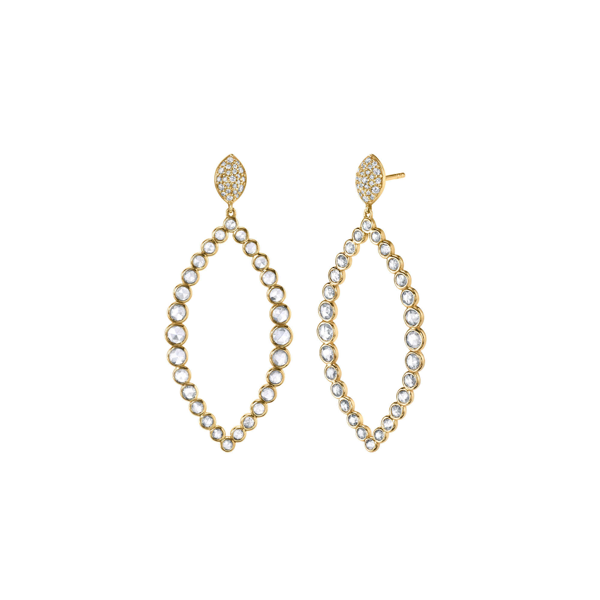 Sloane Street 18K Yellow Gold 1.87CTS  Diamonds Gold Earrings with Stones E220T-WDCB-Y
