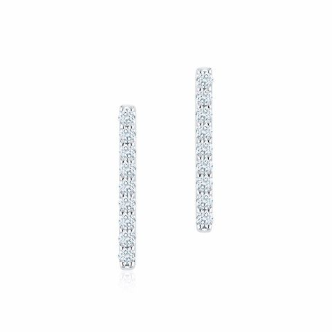 Birks 18K White Gold .17cts  Diamonds Gold Earrings with Stones 450011459104