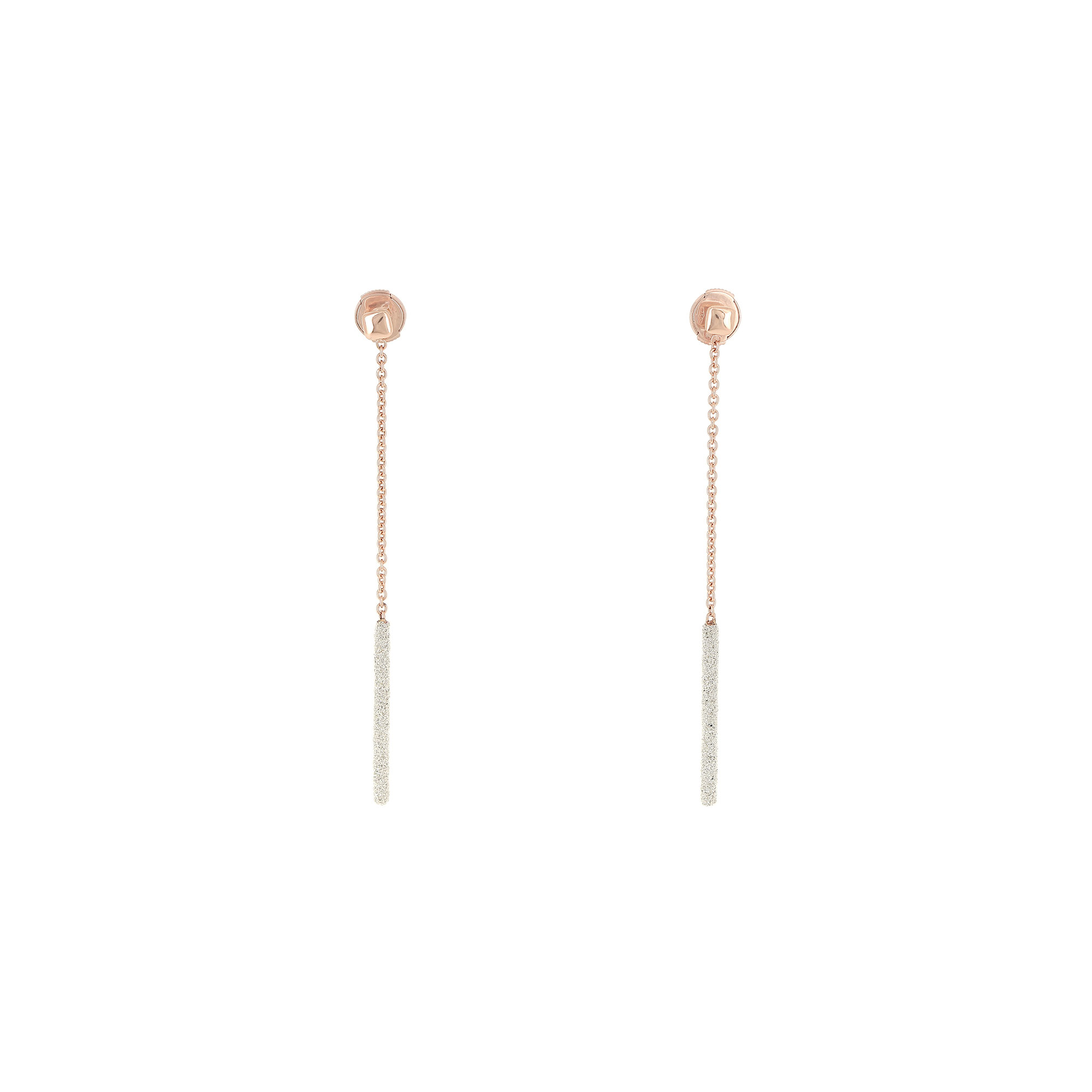 Pesavento 18K Rose Gold  Champagne Diamond Dust Gold Earrings with Stones YBSCO013