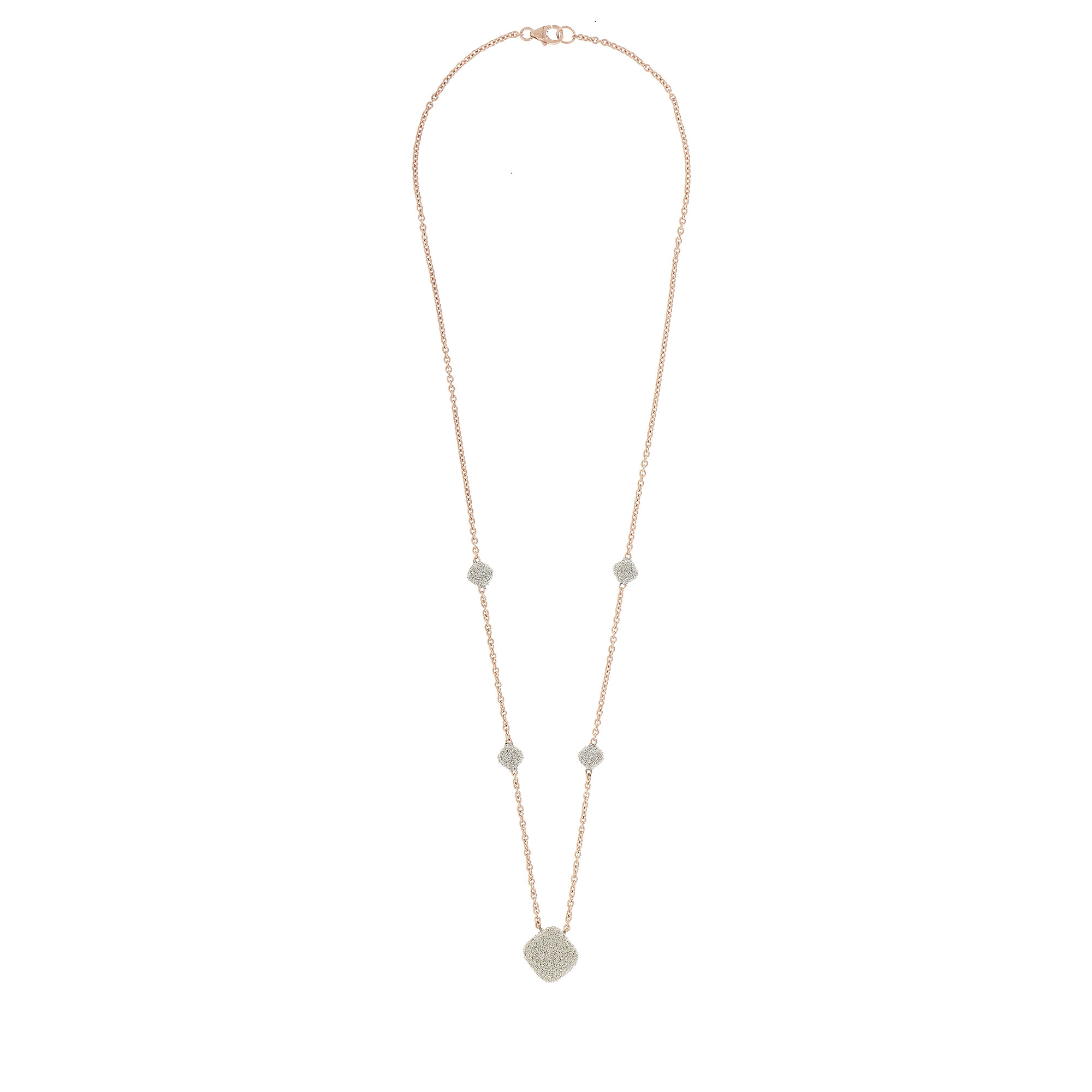 Pesavento 18K Rose Gold   Diamond Dust Gold Necklace with Stones YCKTE003