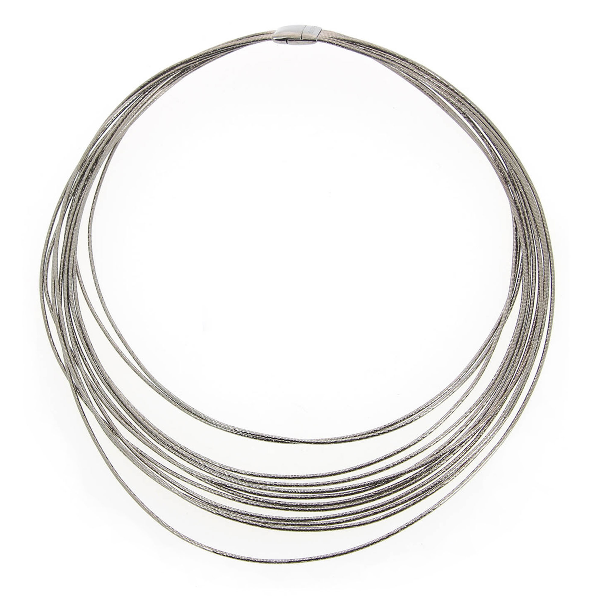 Pesavento  Ruthenium Plated Sterling Silver    SILVER NECKLACE/BROOCH WDNAG035