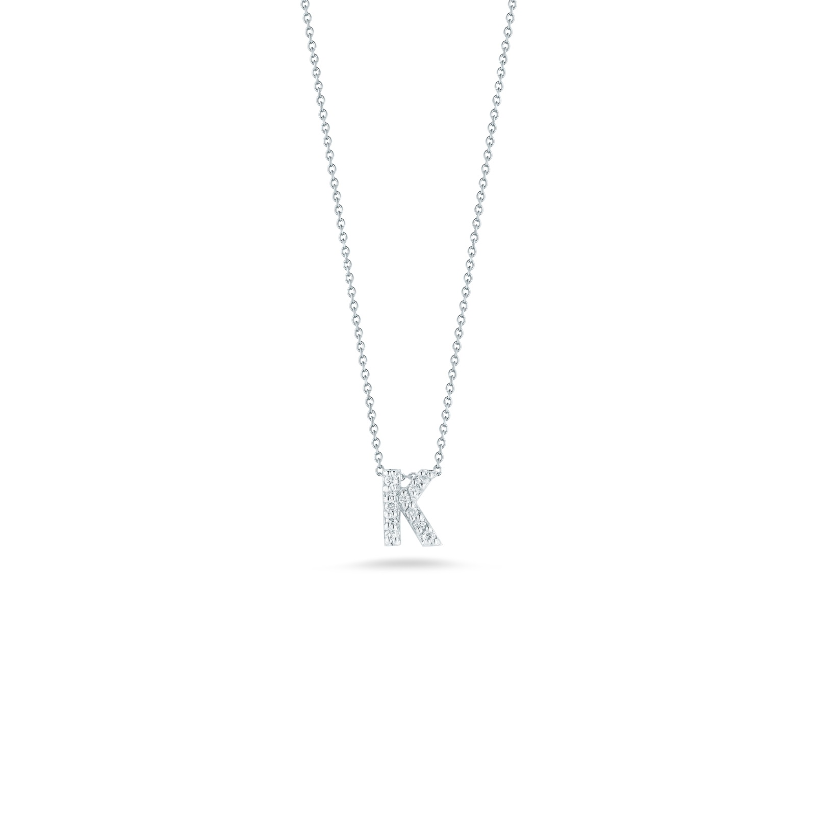 Roberto Coin 18K White Gold .05cts  Diamonds Gold Necklace with Stones 001634AWCHXK