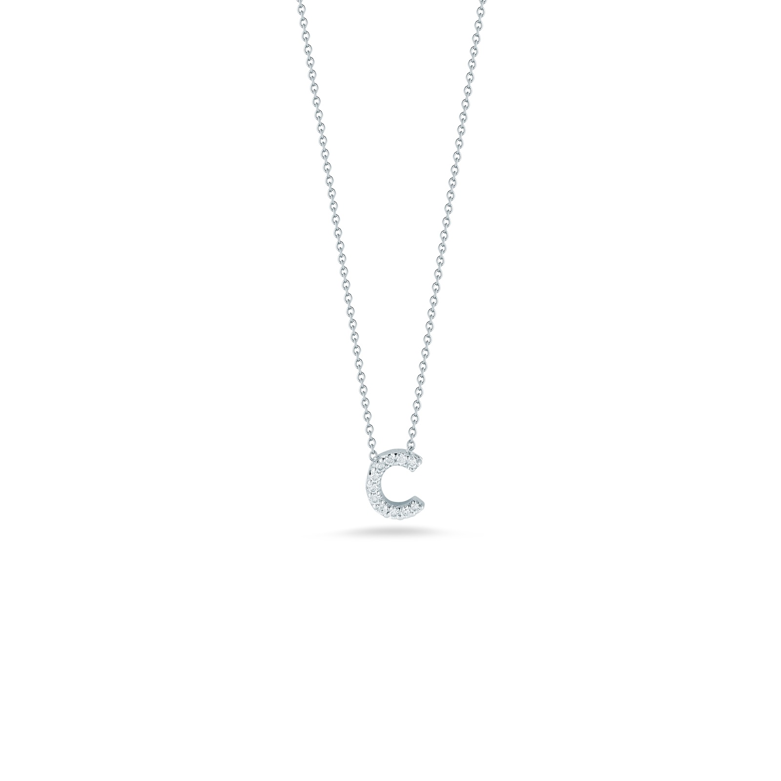 Roberto Coin 18K White Gold .05cts  Diamonds Gold Necklace with Stones 001634AWCHXC