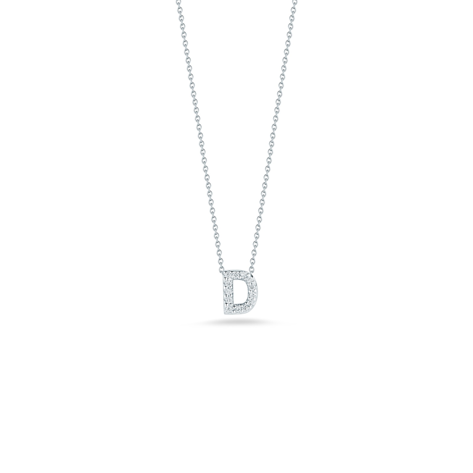 Roberto Coin 18K White Gold .06cts  Diamonds Gold Necklace with Stones 001634AWCHXD