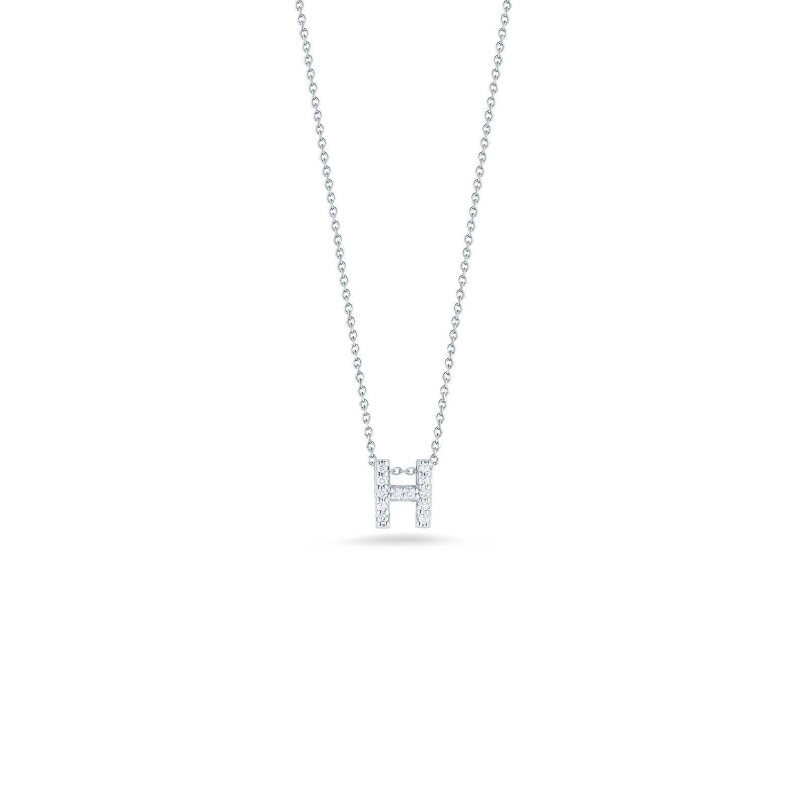 Roberto Coin 18K White Gold .06cts  Diamonds Gold Necklace with Stones 001634AWCHXH