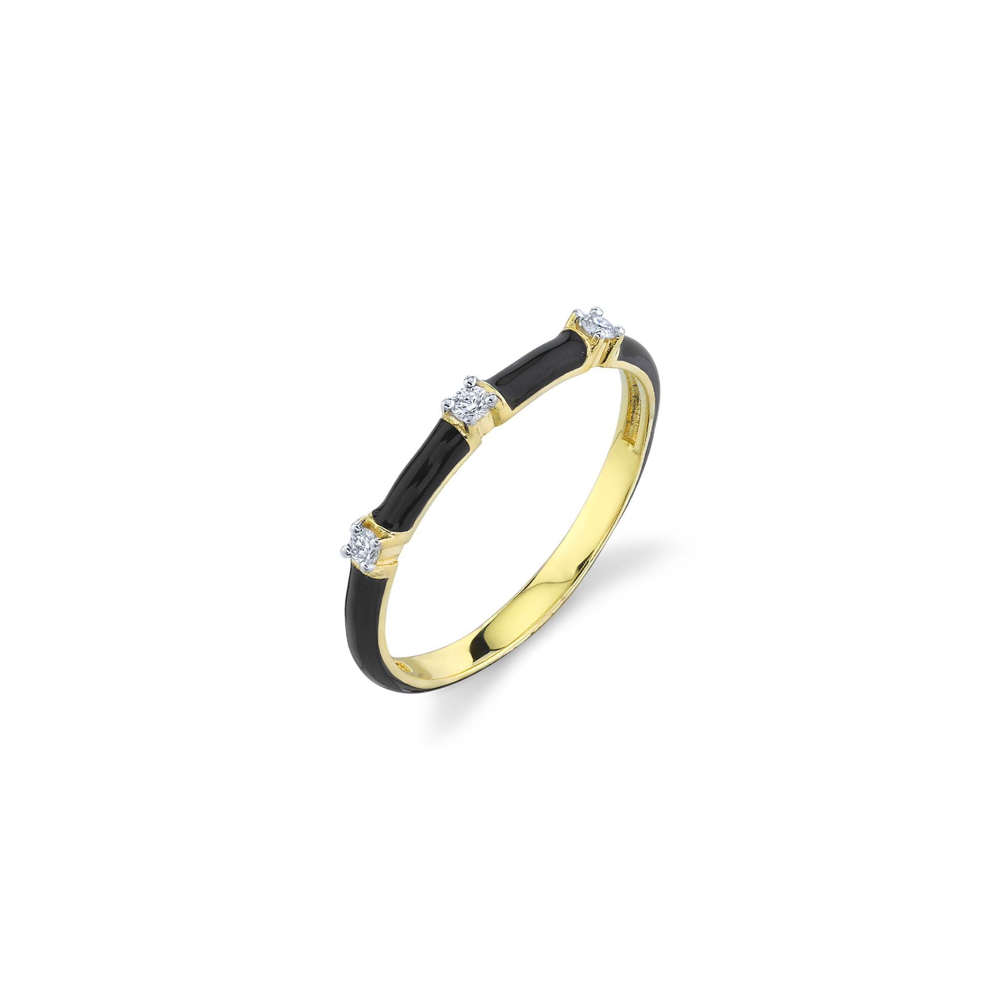 Sloane Street 18K Yellow Gold .07cts  Diamonds Gold Ring with Stones R014G-BKE-WDCB-Y-7