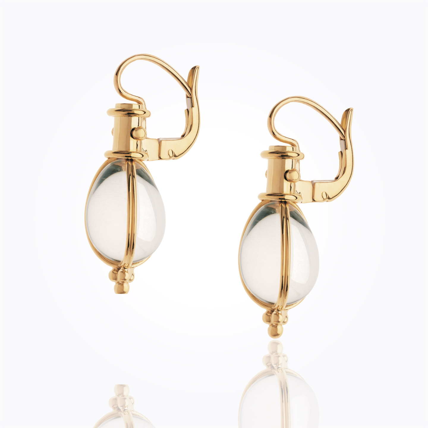Temple St. Clair 18K Yellow Gold    Gold Earrings with Stones E55800-E9