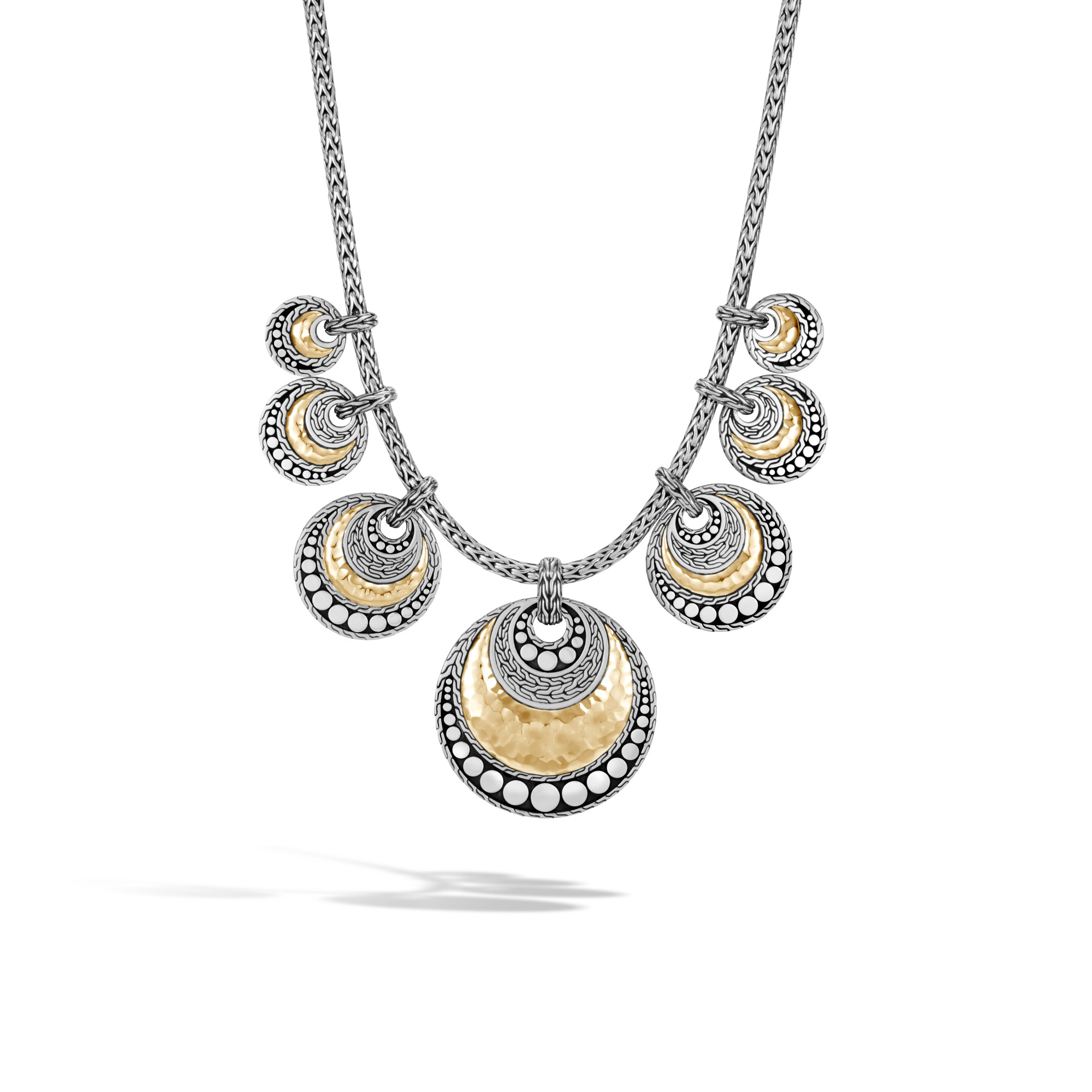 John Hardy  Sterling Silver     Silver Pendant with Stones NZ30083X16-18